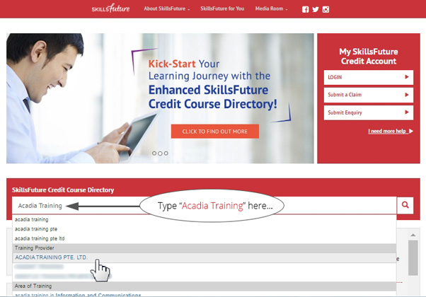 SkillsFuture Credit Courses Directory